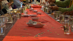 Sage members celebrate Thanksgiving at Sage center, 305 7th Ave